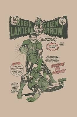 Lantern Digital Art - Green Lantern - Beware My Power by Brand A