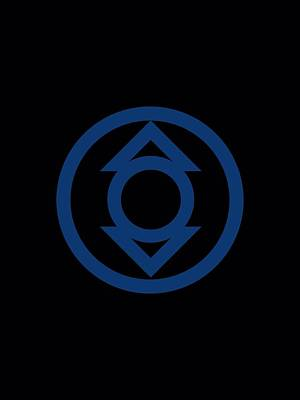 Lantern Digital Art - Green Lantern - Blue Emblem by Brand A