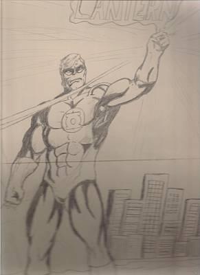 Green Lantern Drawing - Green Lantern by Elvis Navarro