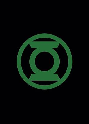 Lantern Digital Art - Green Lantern - Green Emblem by Brand A