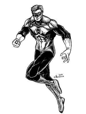 Dc Comics Drawing - Green Lantern by Kayleigh Semeniuk