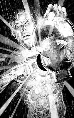 Green Lantern Art Print by Ken Branch