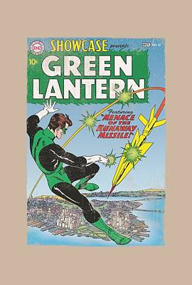 Lantern Digital Art - Green Lantern - Menace Missle by Brand A
