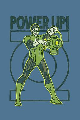 Lantern Digital Art - Green Lantern - Power Up by Brand A