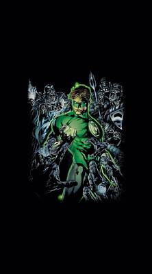 Lantern Digital Art - Green Lantern - Surrounded By Death by Brand A