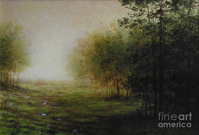 Berkshires Painting - Green by Larry Preston