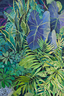 Painting - Green Leaves 2 by Judith Barath