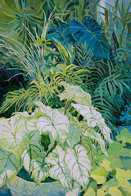 Painting - Green Leaves 3 by Judith Barath