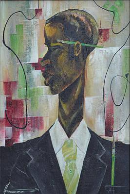 Green Light Green Stripe Art Print by Hasaan Kirkland