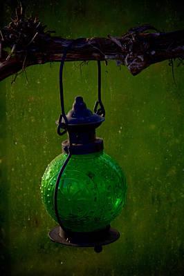 Smudge Pot Photograph - Green Light by Odd Jeppesen