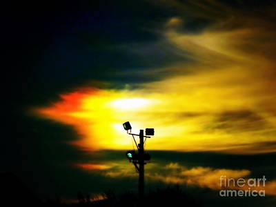 Photograph - Green Lights At Sunset by Renee Trenholm