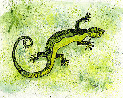Painting - Green Lizard by Darice Machel McGuire