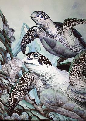 Green Loggerhead Art Print