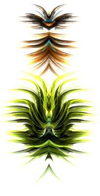 Digital Art - Green Lotus by Kruti Shah