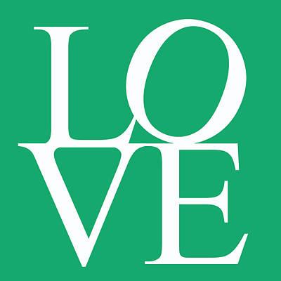 Friendly Digital Art - Green Love by Georgia Fowler