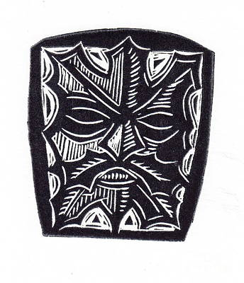 Printmaking Mixed Media - Green Man by Coralette Damme