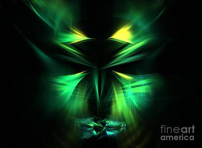 Green Man Art Print by Kim Sy Ok