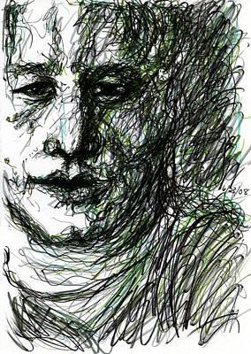 Drawing - Green Man by Rachel Scott