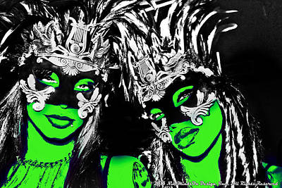 Green Mask  Art Print by Ley Clarie Gray