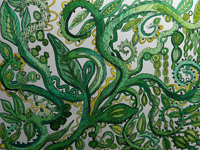 Painting - Green Meditation by Terry Holliday