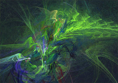 Green Metamorphosis Art Print by Martin Capek
