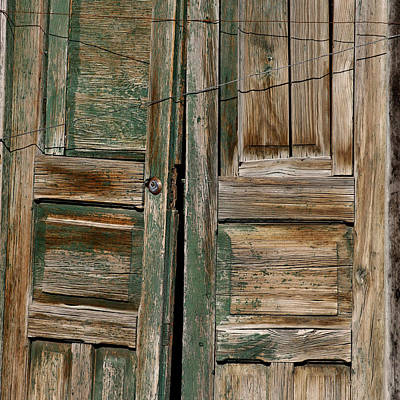 Green Mexican Doors Print by Art Block Collections