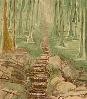 Green Mist Art Print