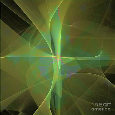 Digital Art - Green Mist by Ursula Freer