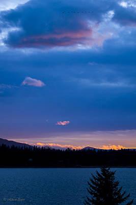 Photograph - Green Monarch Sunset II  141221a-026 by Albert Seger