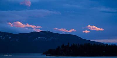 Photograph - Green Monarch Sunset IIi  -  141221a-032 by Albert Seger