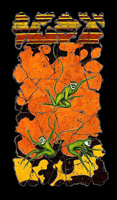 Painting - Green Monkeys No. 4 by Steve Bogdanoff