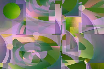 Digital Art - Green Moon by rd Erickson