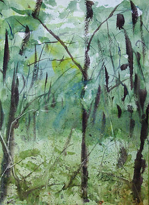 Painting - Green Morning 1 by Rebecca J Dunn