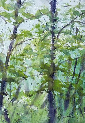 Painting - Green Morning 2 by Rebecca J Dunn
