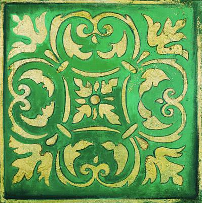 Mosaic Mixed Media - Green Mosaic by Patricia Pinto