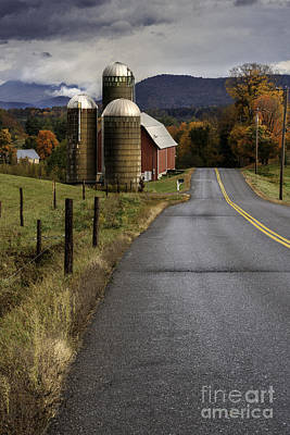 Green Mountain Country Roads Art Print