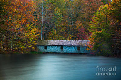 Photograph - Green Mountain Covered Bridge Huntsville Alabama by T Lowry Wilson