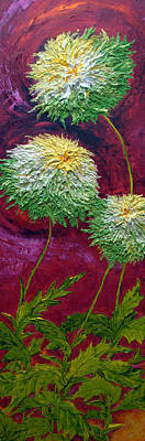 Green Mums Art Print