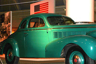 Photograph - Green Museum Car by Bill Woodstock