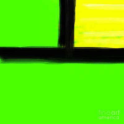Art Drawn By Mouth Digital Art - Green Or Yellow by James Eye