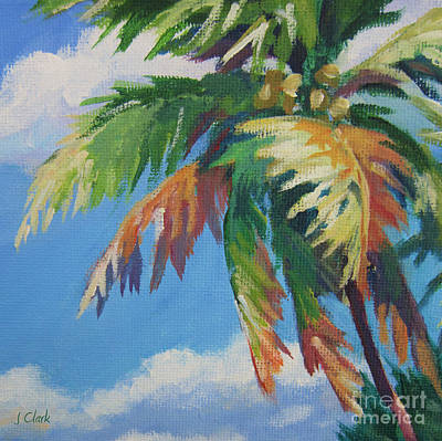 Puerto Rico Painting - Green Palm  by John Clark