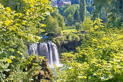Photograph - Green Paradise Of Rastoke Waterfalls by Brch Photography