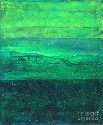 Green Pastures Art Print by Jocelyn Friis