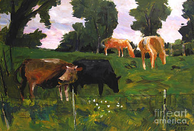 Green Pastures Roann Print by Charlie Spear