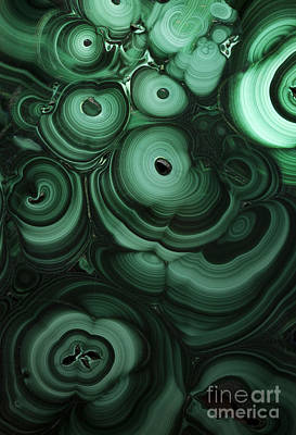 Green Patterns Of Malachite Art Print