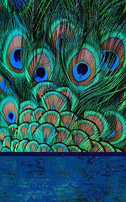 Digital Art - Green Peacock Phone Case by Jane Schnetlage
