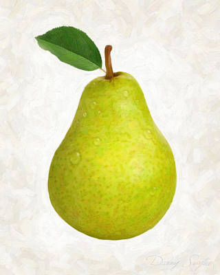Green Pear Isolated Art Print