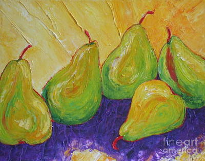 Green Pears Art Print by Paris Wyatt Llanso