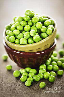 Green Peas Art Print by Elena Elisseeva