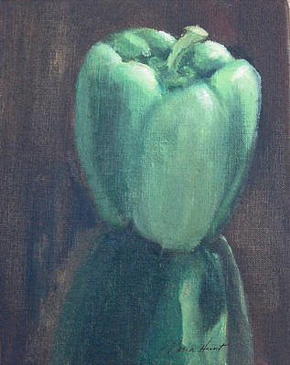 Bell Pepper Painting - Moving Toward The Light by Maria Hunt